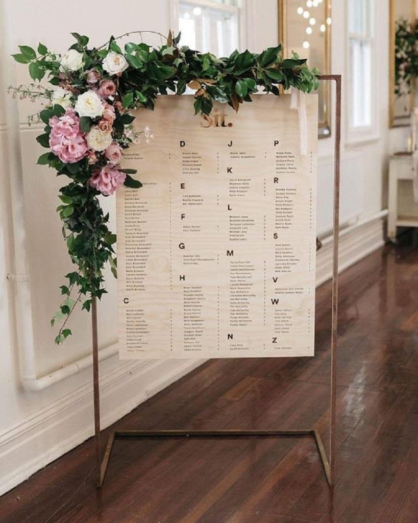 розсадка для гостей на весілля